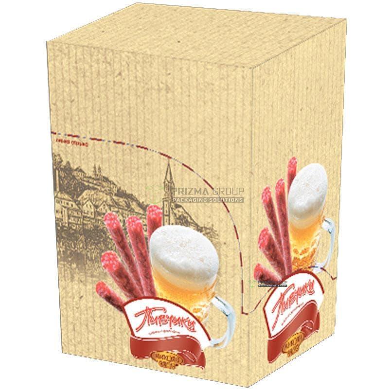 Упаковка для сырокопченых колбасок Пивчики