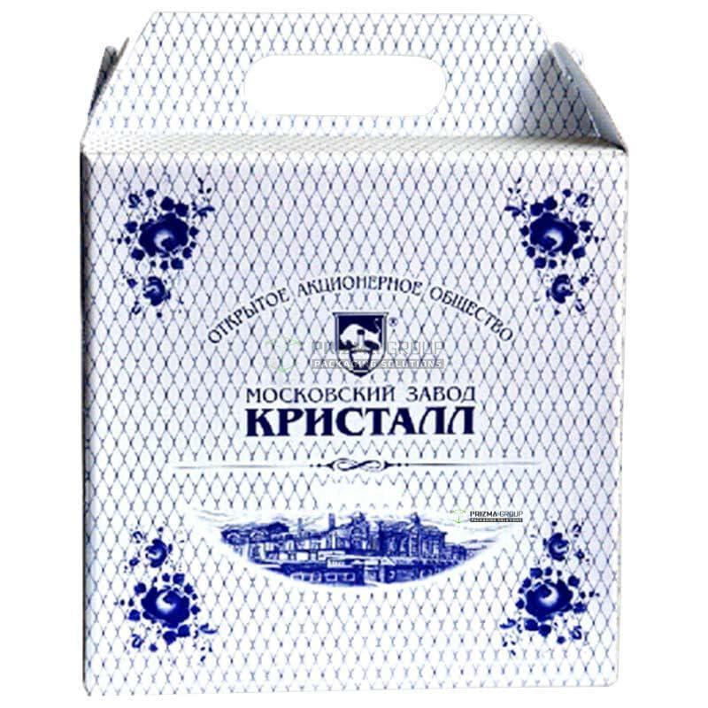 Упаковка с ручкой для водки Кристалл