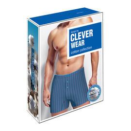 Упаковка для нижнего белья Clever Wear синие боксеры