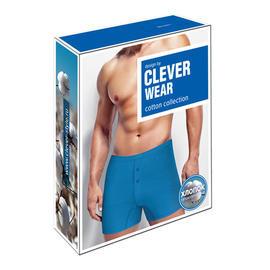 Упаковка для нижнего белья Clever Wear светло-синие боксеры