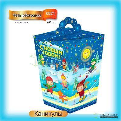 Новогодняя коробка «Каникулы» для подарков