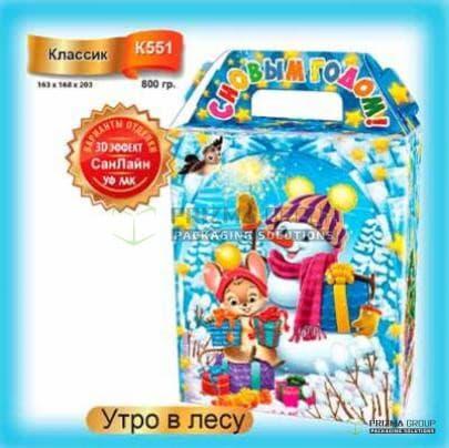 Коробка «Утро в лесу» для детских подарков