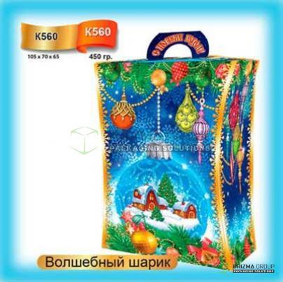 Коробка «Волшебный шарик» для подарков и сладостей