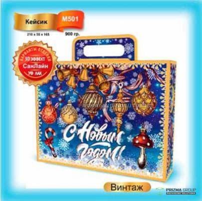 Новогодняя коробка «Винтаж» для набора сладостей и подарков