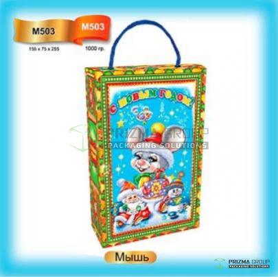 Новогодний пакет «Мышь» для сладких подарков