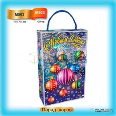 Пакет из мкг «Парад шаров» для Нового года