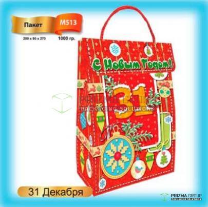 Новогодний пакет «31 декабря» для подарков