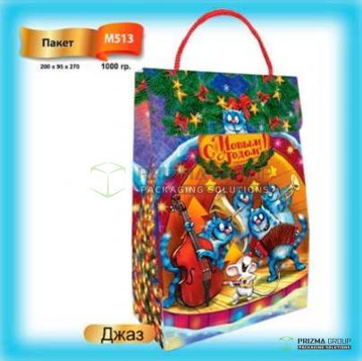 Новогодний пакет «Джаз» для детских подарков
