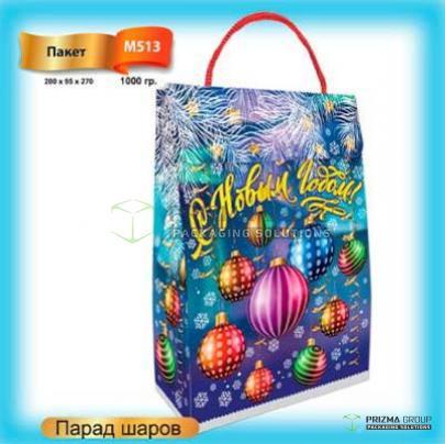 Новогодний пакет из мкг «Парад шаров»