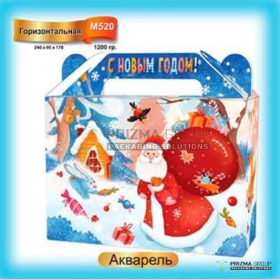 Коробка «Акварель» из мкг для сладких наборов и подарков