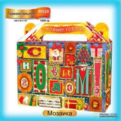 Новогодняя коробка «Мозаика»