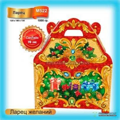 Новогодняя коробка «Ларец желаний» для детских подарков