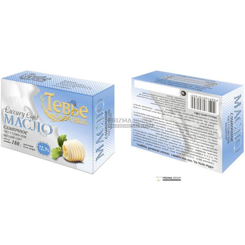 Упаковка для масла Тевье