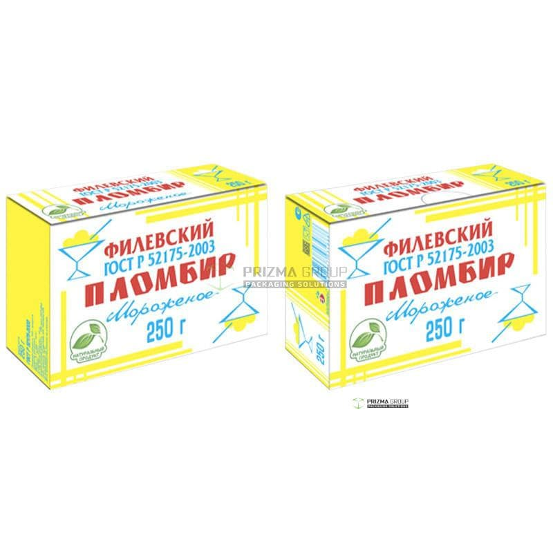 Упаковка для пломбира Филёвский