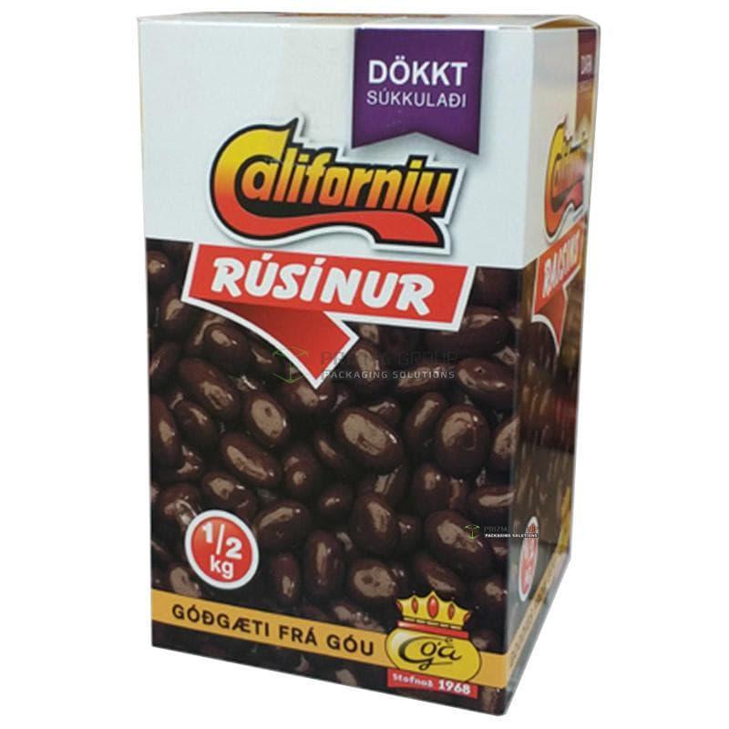 Упаковка для драже изюм в шоколаде Dokkt
