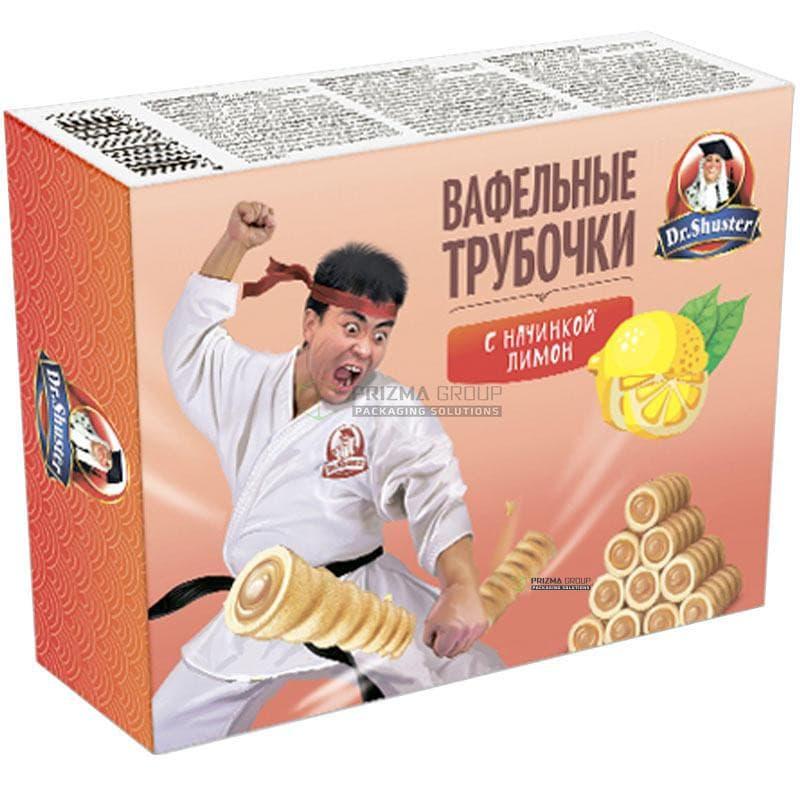 Упаковка для вафельных трубочек c начинкой Dr Shuster
